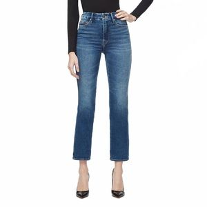 Good American Good Curve High Waist Ankle Leg Jean